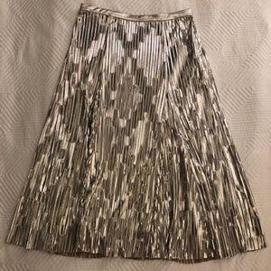 Anthropologie Skirts - Anthropology Maeve Midi Silver Skirt